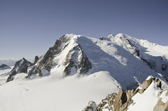 Viste di Mont-Blanc Fotografia Stock