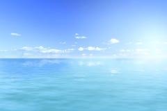 Viste di oceano e luce solare Fotografia Stock Libera da Diritti