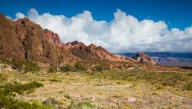 Viste di paesaggio vicino a RN7, Patagonia, Argentina Immagini Stock