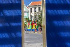 Viste di Punda intorno all'isola dei Caraibi del Curacao Fotografia Stock Libera da Diritti