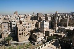 Viste di Sanaa, Yemen. Fotografia Stock