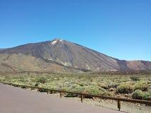 Viste di Teide dal Parador Immagini Stock