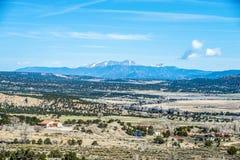 Viste di vista delle montagne rocciose di Colorado Immagini Stock Libere da Diritti