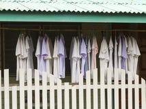 Viste drys en el aire detrás del hogar Fotografía de archivo libre de regalías