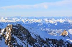 Viste favolose – area dello sci della montagna di Kitzsteinhorn, Austria. Fotografia Stock