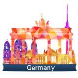 Viste Germania illustrazione vettoriale