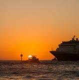 Viste intorno all'isola dei Caraibi del Curacao fotografie stock libere da diritti