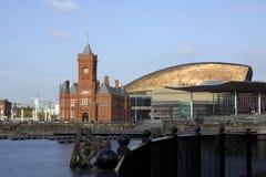 Viste intorno alla baia di Cardiff Fotografia Stock Libera da Diritti