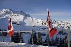 Viste intorno a Whistler e a Blackcombe Canada Fotografia Stock