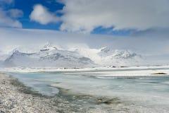 Viste islandesi - ghiacciaio immagini stock libere da diritti