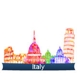Viste Italia, illustrazione di vettore illustrazione vettoriale