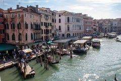 Viste lungo Grand Canal fotografia stock
