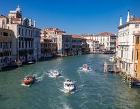 Viste lungo Grand Canal fotografie stock