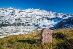 Viste lungo l'alta strada alpina di Grossglockner in Austria Fotografia Stock