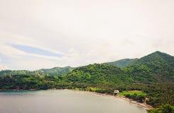 Viste magnifiche dell'isola di Lombok, dell'oceano e dei palmtrees Immagine Stock Libera da Diritti