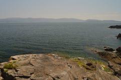 Viste meravigliose della baia in Sanjenjo immagine stock