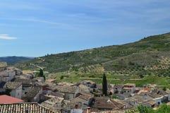Viste meravigliose di Pastrana dall'più alta area della città Feste di viaggio di architettura Fotografia Stock