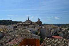 Viste meravigliose di Pastrana dall'più alta area della città Feste di viaggio di architettura Immagine Stock Libera da Diritti