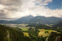 Viste panoramiche dalle rovine del castello di Ehrenberg, Austria Immagine Stock