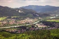 Viste panoramiche dalle rovine del castello di Ehrenberg, Austria Immagine Stock Libera da Diritti