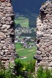 Viste panoramiche dalle rovine del castello di Ehrenberg, Austria Fotografia Stock