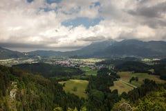 Viste panoramiche dalle rovine del castello di Ehrenberg, Austria Immagini Stock