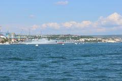 Viste panoramiche della baia di Sebastopoli fotografia stock