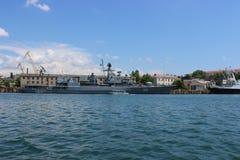 Viste panoramiche della baia di Sebastopoli immagini stock