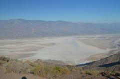 Viste panoramiche della valle della morte Geologia di feste di viaggio fotografia stock libera da diritti