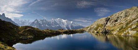 Viste panoramiche delle alpi francesi Immagine Stock Libera da Diritti