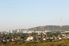 Viste panoramiche di Almaty Kok-Tobe Fotografie Stock Libere da Diritti