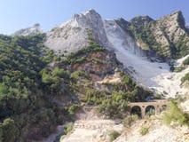 Viste panoramiche di Alpi Apuane Toscana Italia Immagini Stock