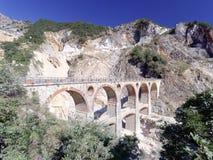 Viste panoramiche di Alpi Apuane Toscana Italia Fotografia Stock Libera da Diritti