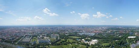 Viste panoramiche sopra Monaco di Baviera, Baviera Fotografia Stock Libera da Diritti