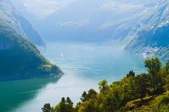 Viste sbalorditive del fiordo La contea di più og Romsdal norway Fotografia Stock