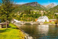 Viste sbalorditive del fiordo La contea di più og Romsdal norway Immagini Stock