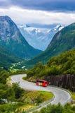 Viste sbalorditive della valle norway Fotografia Stock Libera da Diritti