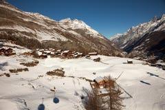 Viste sceniche intorno a Zermatt ed al Cervino, Svizzera Immagini Stock Libere da Diritti