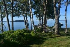 Viste sceniche strabilianti dall'isola Maine di Bustins fotografia stock libera da diritti
