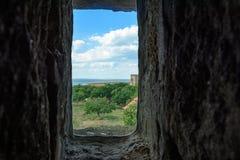 Viste stupefacenti dalle finestre della fortezza di Akerman immagini stock libere da diritti