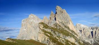 Viste stupefacenti nelle montagne delle dolomia Fotografia Stock