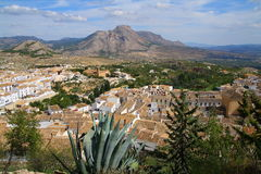 Viste su Vélez-Blanco (AlmerÃa, Spagna) Fotografie Stock