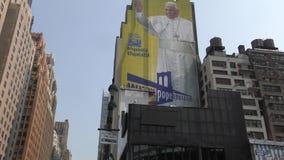 Visti del papa a los E.E.U.U. almacen de video