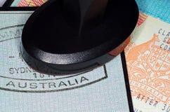 Visto australiano di immigrazione Fotografie Stock