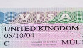 Visto de Reino Unido Fotografia de Stock