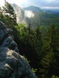 Visto del castillo de la roca Imagen de archivo