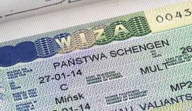 Visto di Schengen fotografia stock libera da diritti