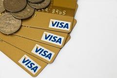 Visto e dinheiro Fotos de Stock