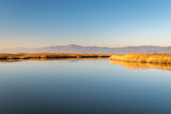 Vistonida lake from Lagos in Greece Stock Photos