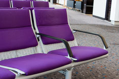 Vistor's chair. In airport Royalty Free Stock Photos